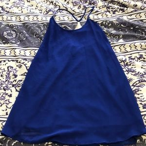 Blue Urban Outfitters Dress with Metal Back